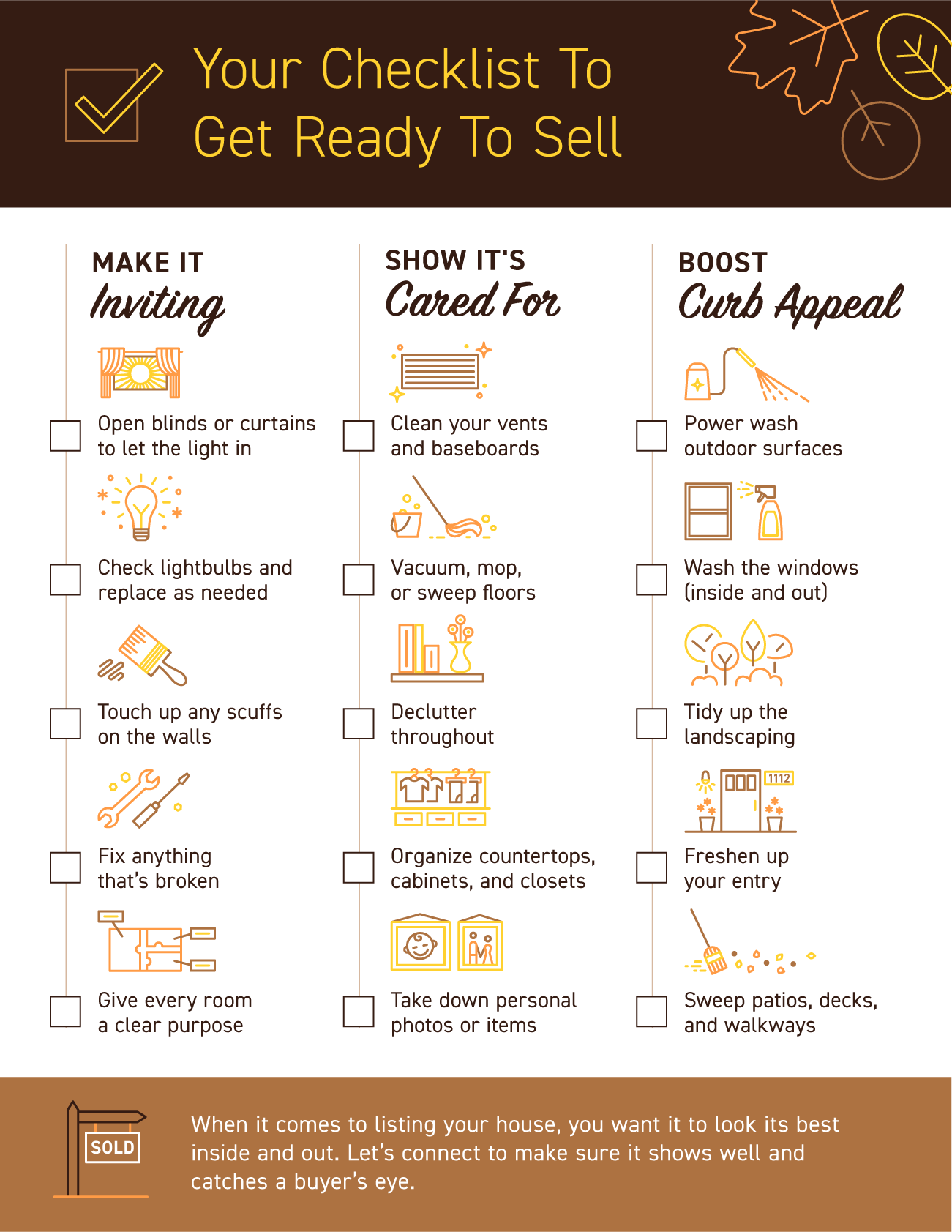 Your Checklist To Get Ready To Sell [INFOGRAPHIC] | Simplifying The Market